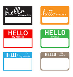 Hello my name icon on white background flat vector