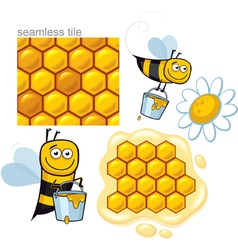 honeybee elements vector image