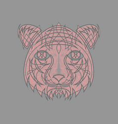 Icon in a flat style abstract tiger vector