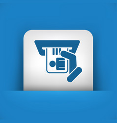 Identity card insert icon vector