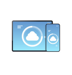 internet connection mobile application cloud vector image