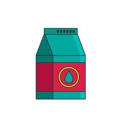 Isolated bottle of milk flat cartoon vector