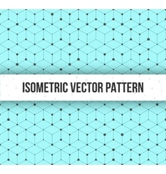 Isomertic Cube Geometric Lines Pattern with Random vector image