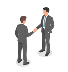 Isometric business people shaking hands in vector