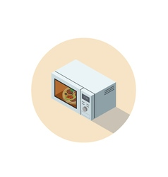 isometric of microwave oven 3d flat kitchen vector image