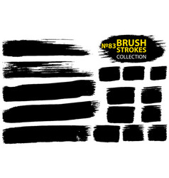 large set different grunge brush strokes vector image