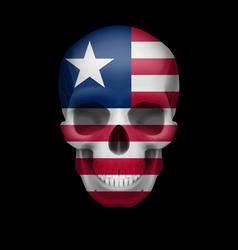Liberian flag skull vector