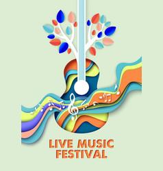 live music festival poster banner template vector image