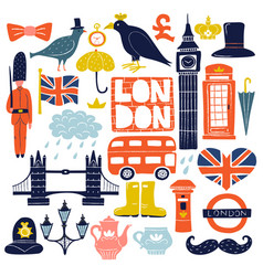 London landmarks set vector