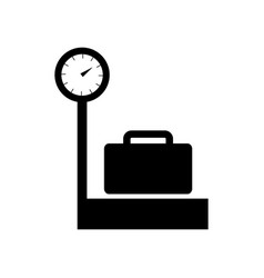 Luggage weight icon vector