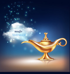 magic vessel vapour composition vector image