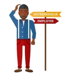 Man choosing career way vector image