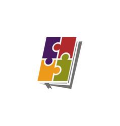 management book logo design template vector image
