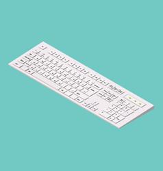 modern computer keyboard isometric vector image