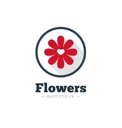 Modern flat minimalistic flower shop logo vector