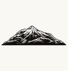 mountain vintage monochrome template vector image