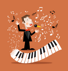 Music background with abstract piano keyboard and vector