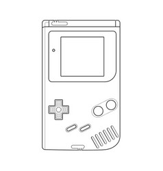 Nintendo gameboy - console vector