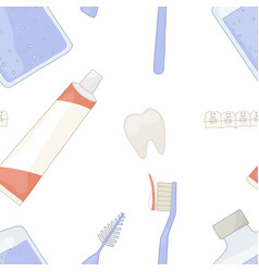 oral health with braces vector image