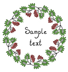 Round rowanberry ornament vector