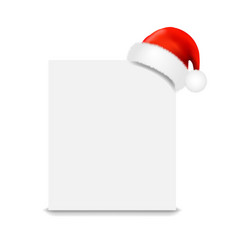 santa claus cap with banner vector image