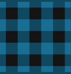 seamless black dark and bright blue tartan vector image