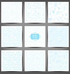Seamless pattern drawn in a childlike style Set vector image