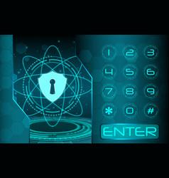 Security access concept vector