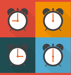 set alarm clocks with different time from morning vector image