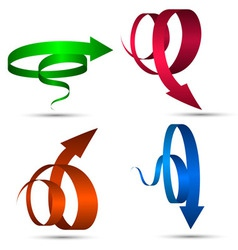 Set of Spiral Arrows vector image