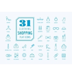Shopping icons set E-commerce symbols vector image