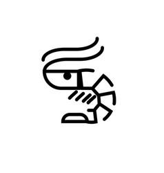 shrimp logo icon isolated on white background vector image