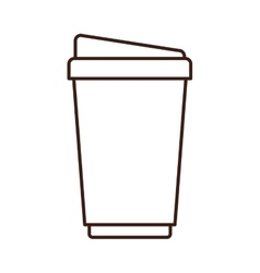 Silhouette glass disposable for drinks vector