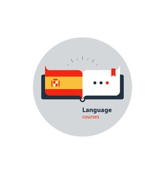 Spanish language courses advertising concept vector image