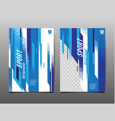 Sport layout template design abstract vector