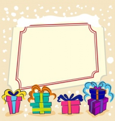 surprise gift with frame vector image