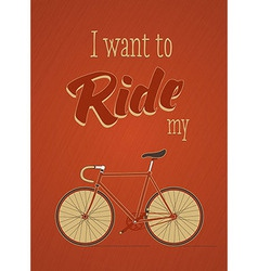 Template with bicycle theme vector image