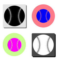 tennis ball flat icon vector image