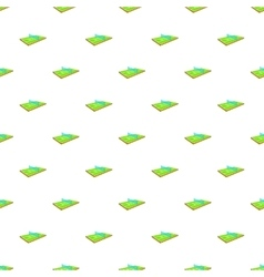 Tennis court pattern cartoon style vector