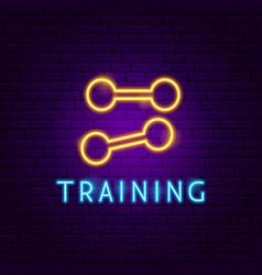 training neon label vector image