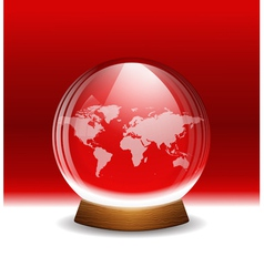 transparent snow globe with map vector image