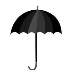 umbrella black isolated icon vector image