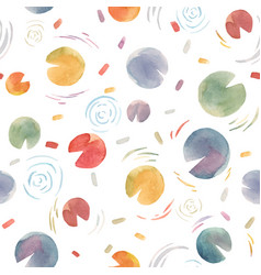 Watercolor abstract colourful water lily vector