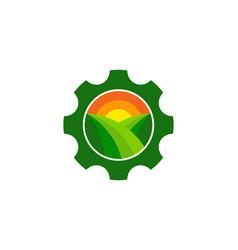 Wheel farm logo icon design vector