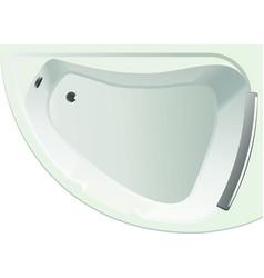 white corner bath top view image vector image