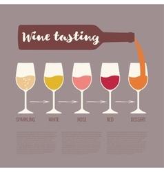 wine tasting vector image