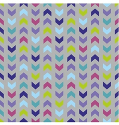 Wrapping chevron tile colorful pattern background vector image