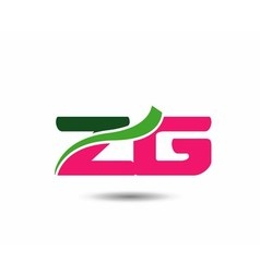 Alphabet Z and G letter logo vector image vector image