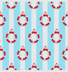 life ring seamless pattern vector image vector image