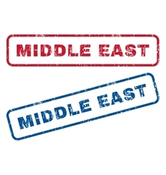 Middle east rubber stamps vector